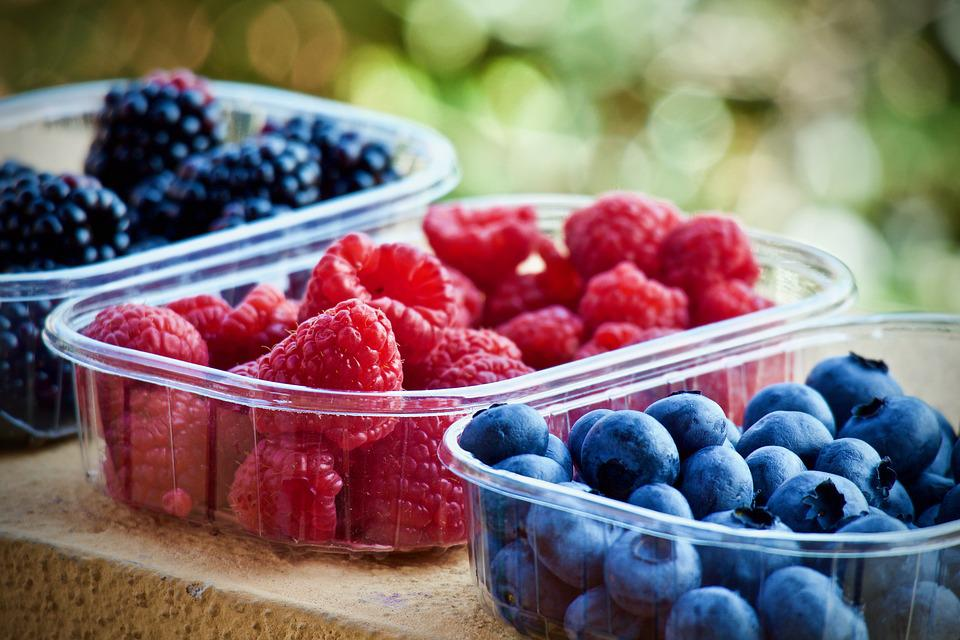 Soft Fruits, Blueberries, Raspberries, Fruit, Food