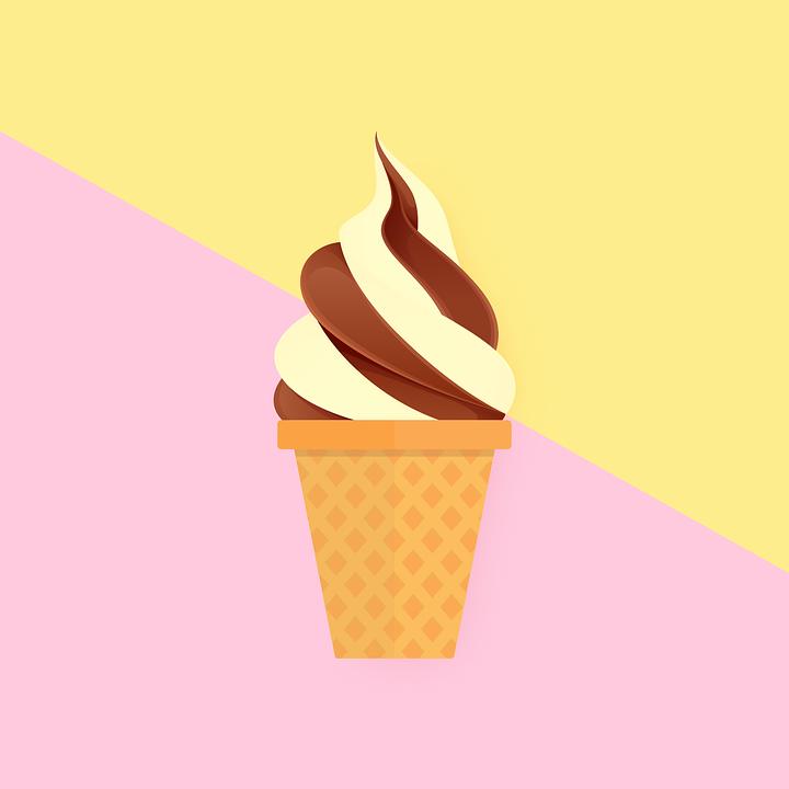 Summer, Food, Soft, Ice Cream, Chocolate, Vanilla