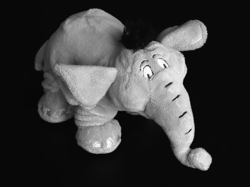 Elephant, Pachyderm, Grauhaeuter, Soft Toy