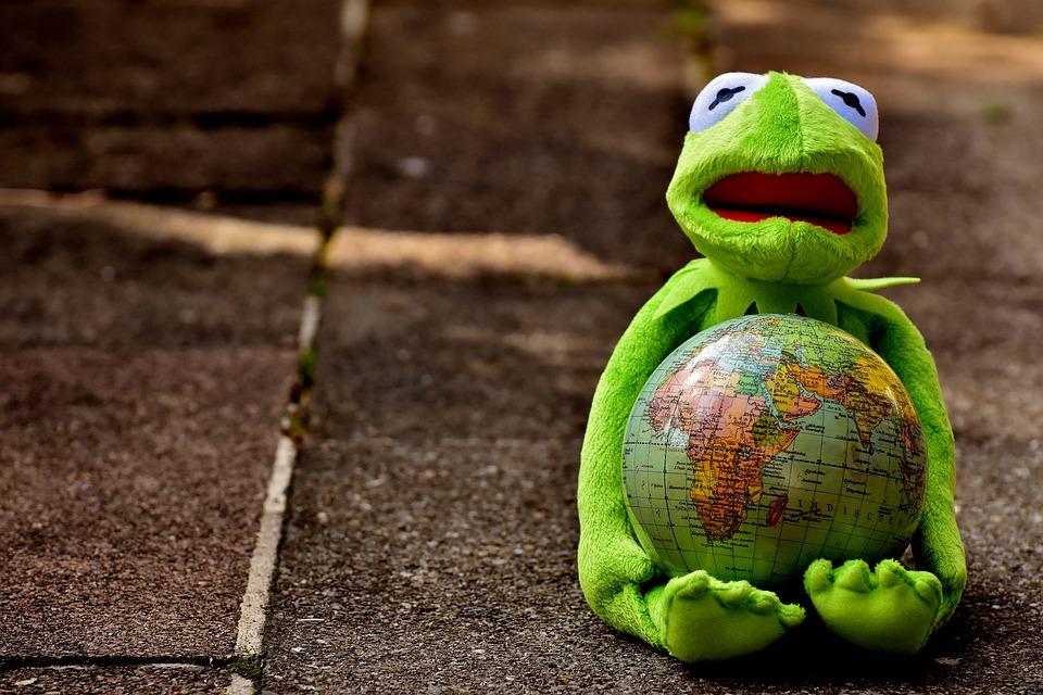 Free photo Soft Toy Kermit Embrace The World Stuffed Animal - Max Pixel