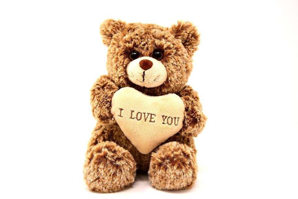 Teddy, Love, Valentine's Day, Greeting Card, Soft Toy