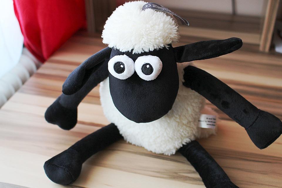 Shaun The Sheep, Soft Toy, Sheep, Teddy Bear, Cute