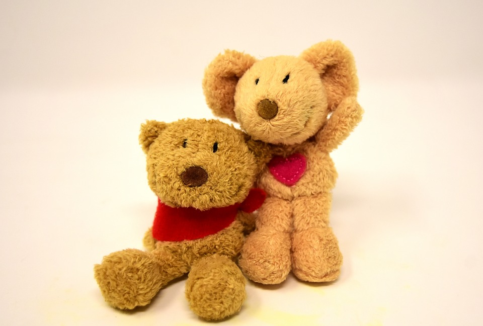 Teddy, Mouse, Heart, Love, Stuffed Animal, Soft Toy
