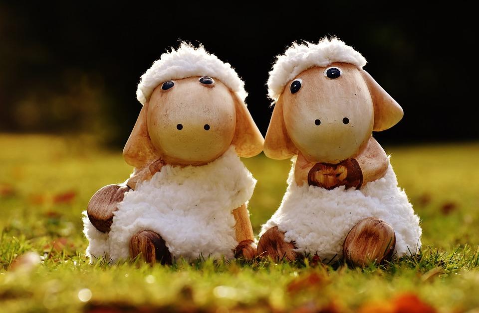 Sheep, Deco, Ceramic, Cute, Fig, Soft Toy, Wool, Face