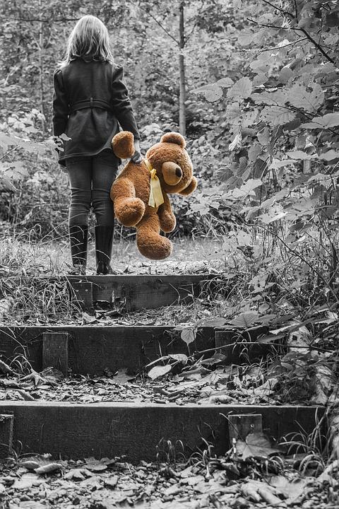 Girl, Child, Teddy Bear, Plush Toys, Soft Toys, Teddy