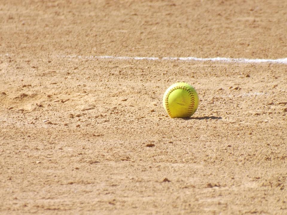 Softball, Ball, Field, Sand, Sport