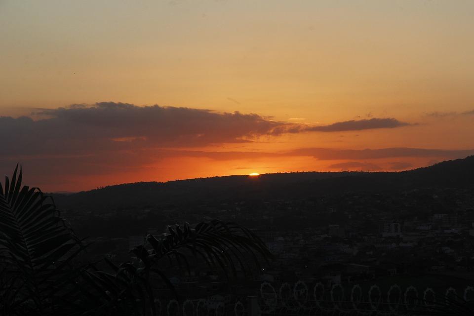 Sunset, Sol, City, Landscape
