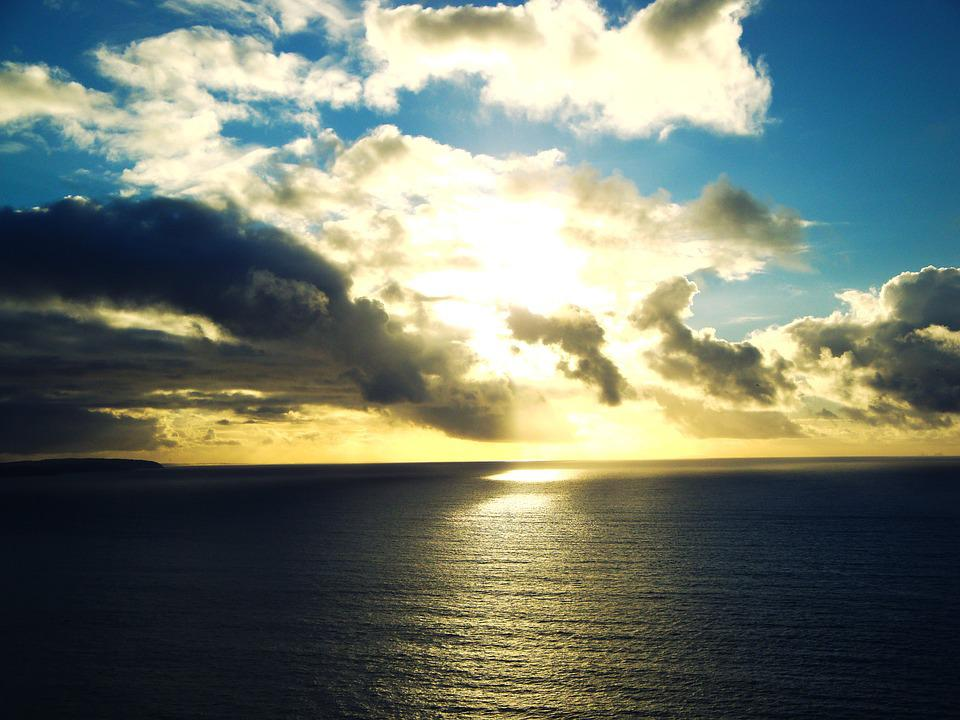Mar, Clouds, Cloud, Sky, Sol, Ocean, Ocean Sky, Light
