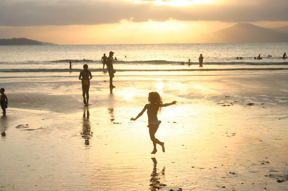 Beach, Sol, People, Child