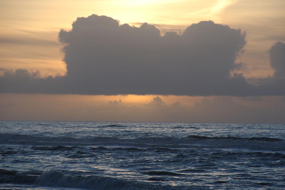Denmark, Natural, Beach, Sky, Sol, Clouds, Winter