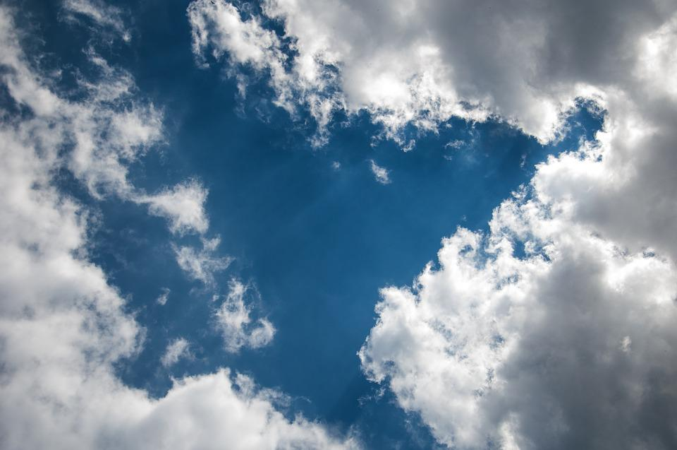 Sky, Cloud, Blue, White, Solar, Summer, Clouds, Sunset