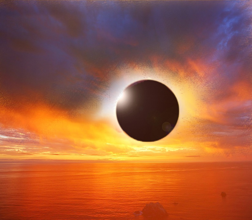 Solar Eclipse, Sunset, Eclipse, Sun, Sky, Solar, Planet