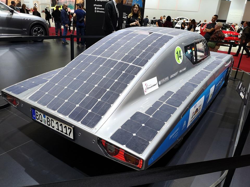 Auto, Solar Panels, Ecology, Environment, Modern, Own