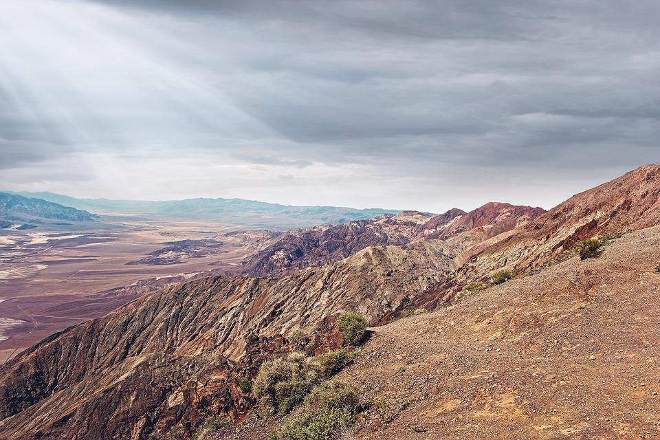 Solar Rays, Solar, Rays, Mountain, Desert, California