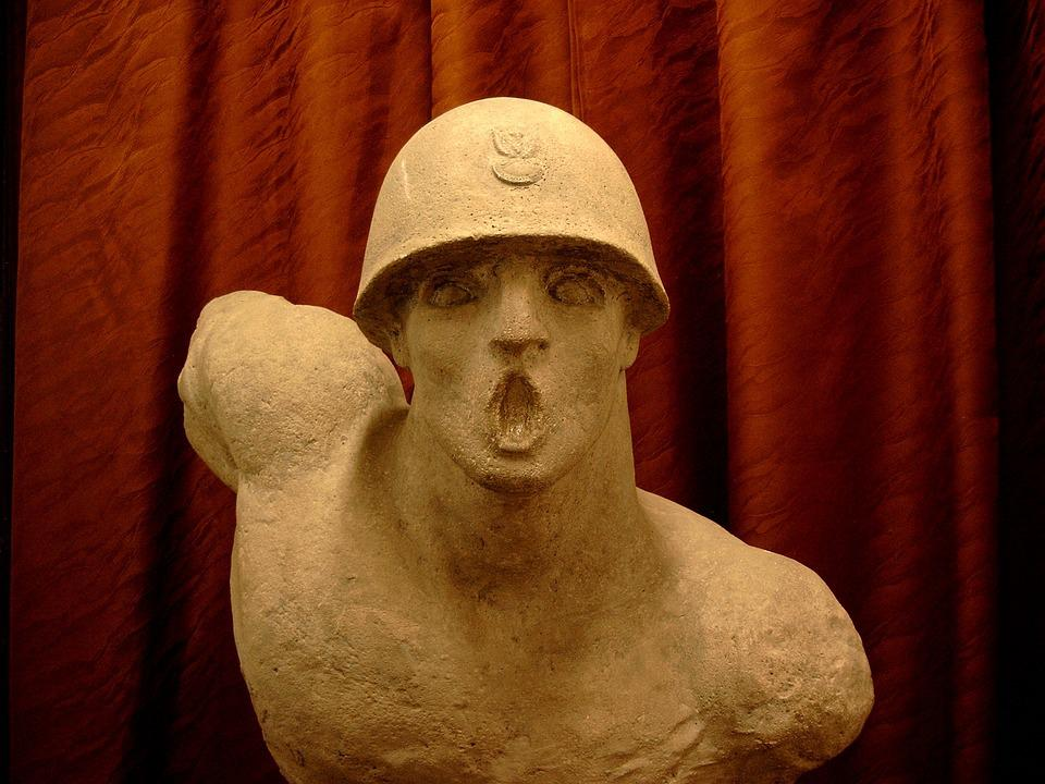 Sculpture, Bust, Polish Soldier, Soldier, Museum