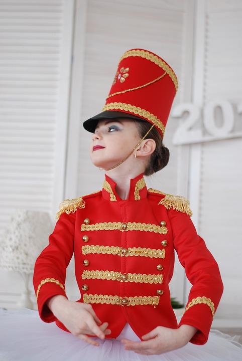 Soldier, Ballet, Ballerina, Costume, Nutcracker, Girl