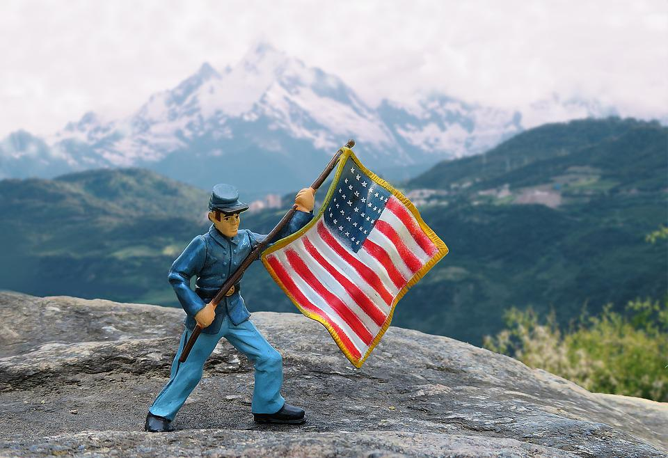 Soldier, American Flag, Military, Usa, United
