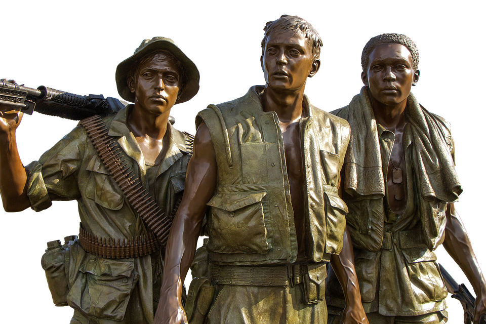 Vietnam Memorial, Soldiers, Bronze, Monument, Statue