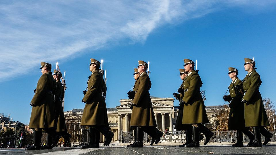 Budapest, Soldiers, Marching, Military, Hungary