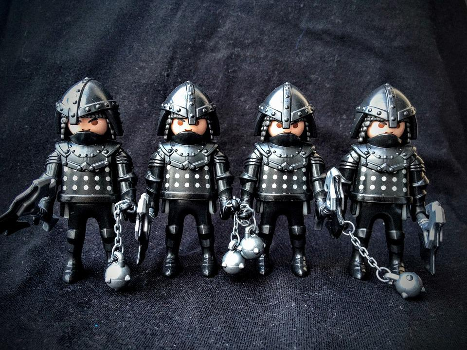 Playmobil, Figure, Toys, Soldiers, Medieval