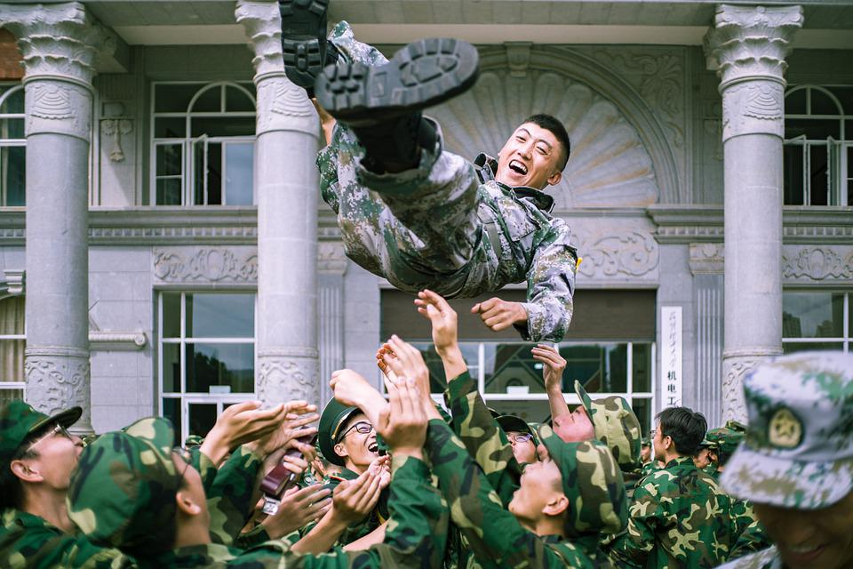 Campus, Military Training, Soldiers, University