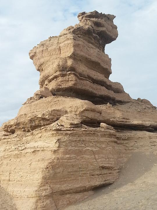 Dunhuang, Tourism, Landform, Stone, Nature, Solid