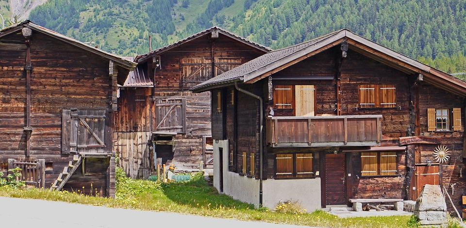 Switzerland, Valais Homes, Timber Construction, Solid
