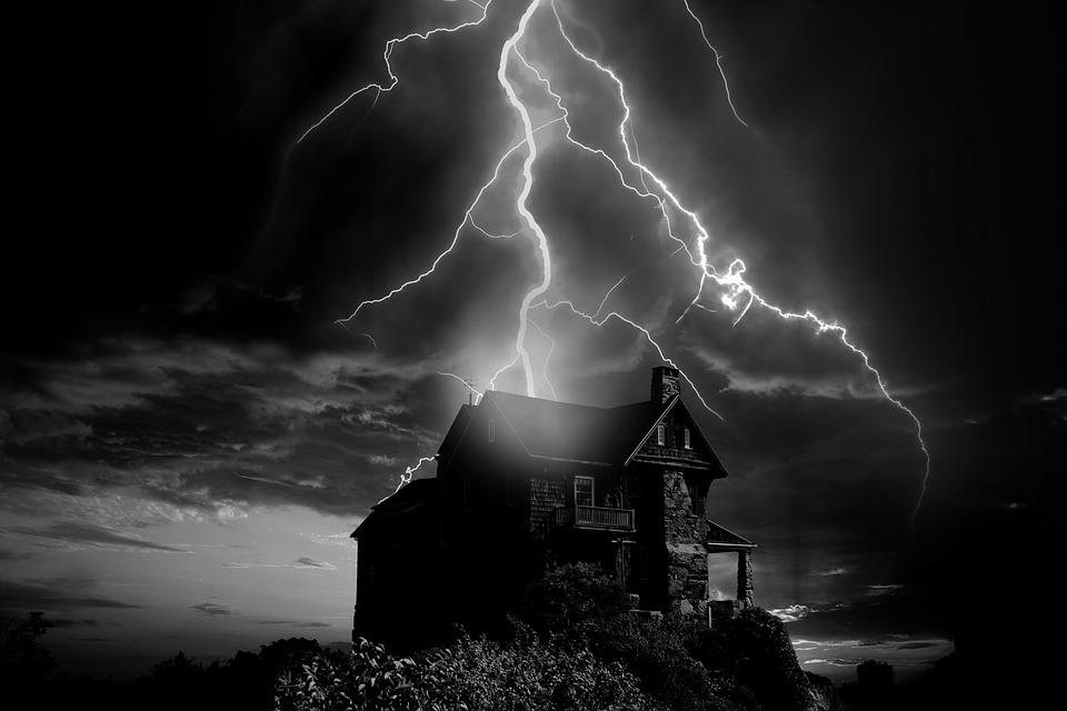 Fantastic Free Photo Solitary Home Thunderstorm Flash Storm Weather Download Free Architecture Designs Scobabritishbridgeorg