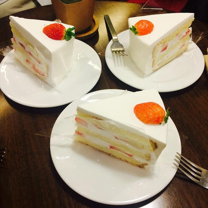 Cake, Food, Something To Eat, Strawberry Cake