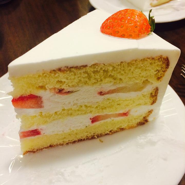 Cake, Food, Something To Eat, Strawberry Cake