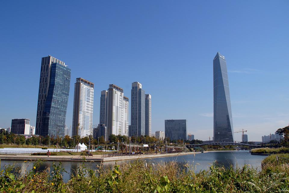 Songdo Incheon Korea, Building, Songdo Central Park