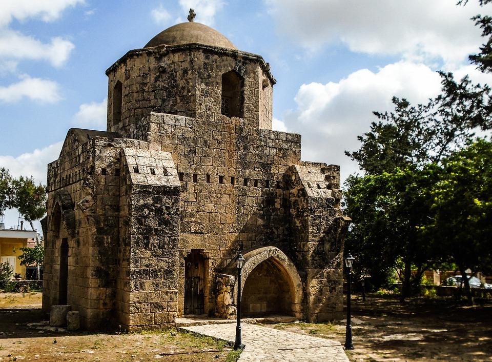Cyprus, Sotira, Ayios Mamas, Ruins, Building, Monument