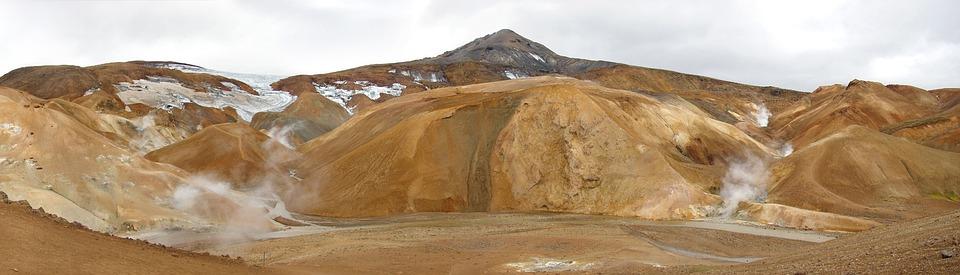 Iceland, Desert, Soufriere, Volcanism, Fumarole