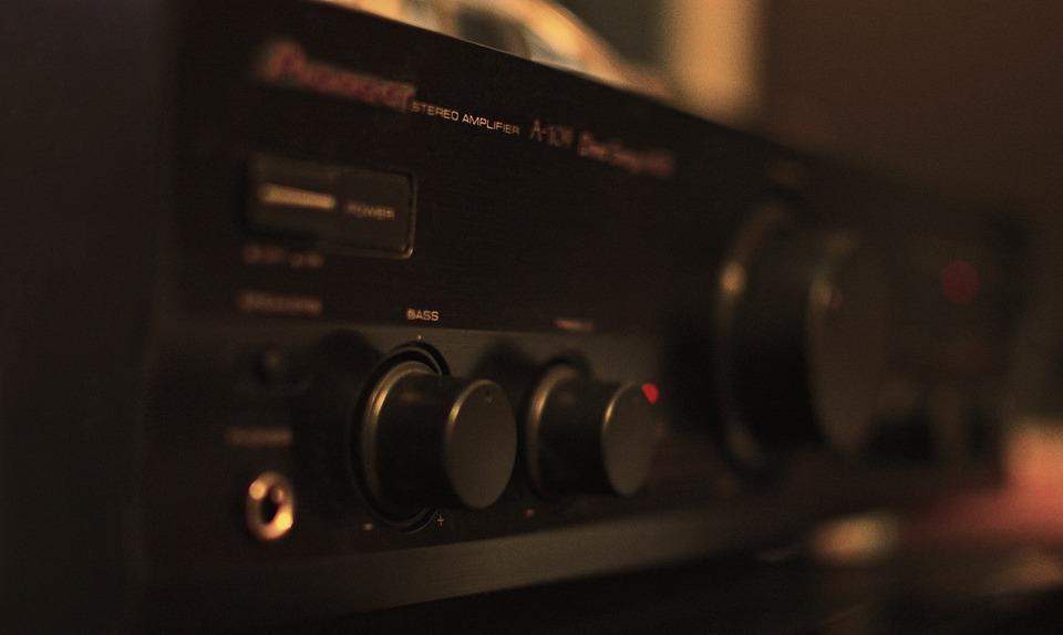 Audio, Sound, Amplifier, Black, Dark, Handsomely