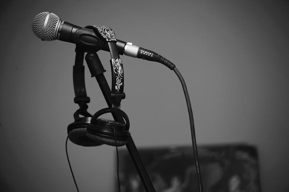 Mic, Microphone, Sound, Singing, Headphones, Karaoke