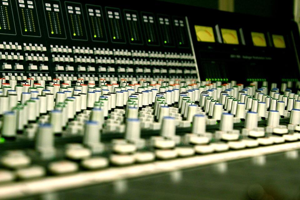 Console, Studio, Music, Mixer, Sound, Broadcast, Mixing