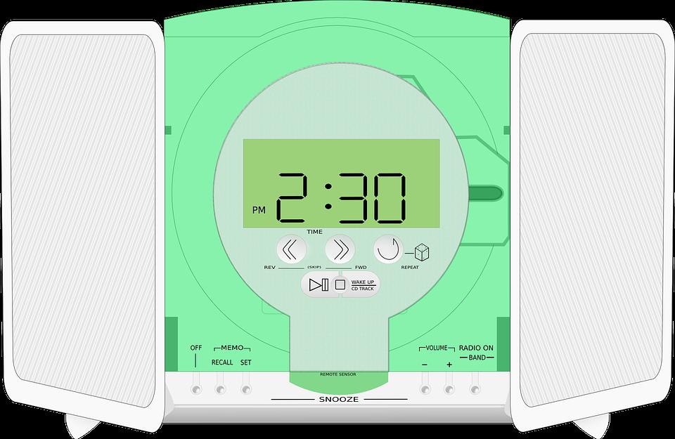 Radio, Player, Clock, Stereo, Music, Recreation, Sound