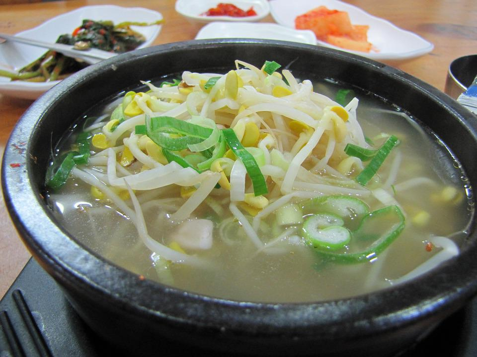 Sprouts, Soup, Wave, Bean Sprouts Soup With Rice, Food