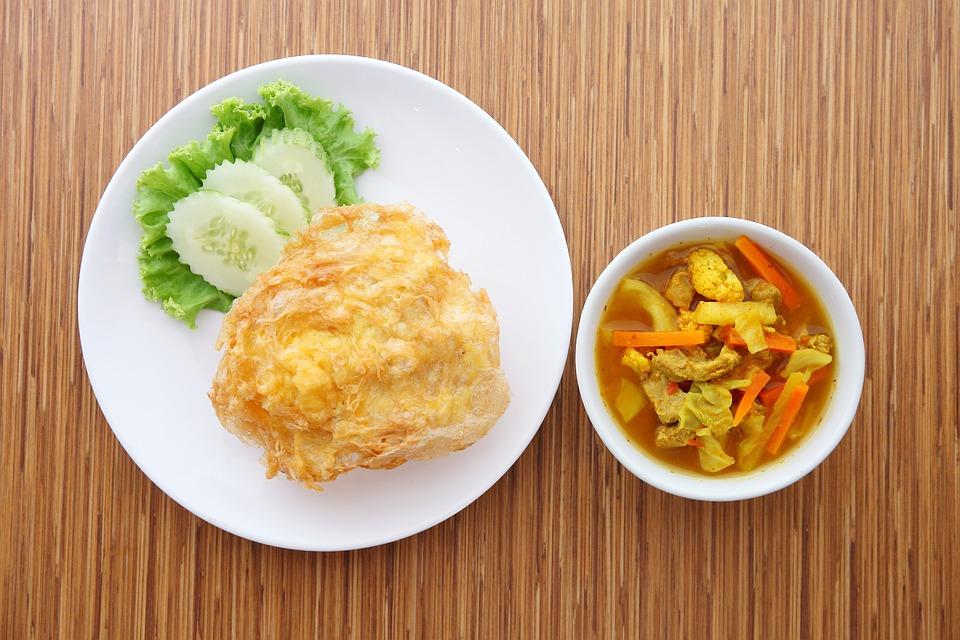 Sour, Sour Pork, Rice Omelet, Food, Thailand Food
