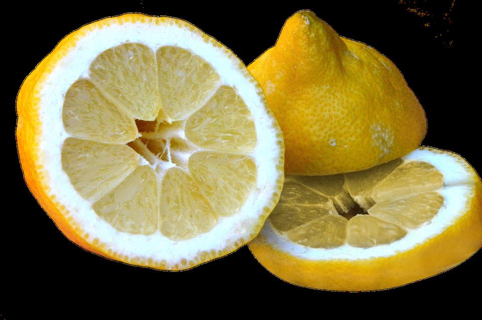 Lemon, Sour, Sliced, Isolated, Healthy, Vitamins
