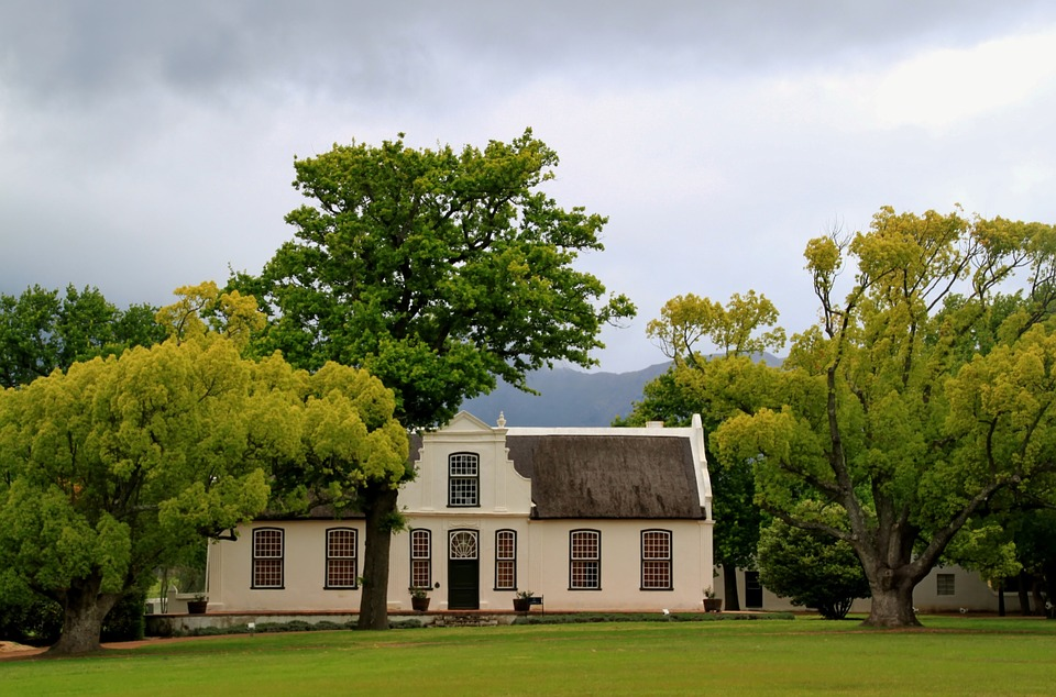 Winery, Manor House, Home, Building, Park, South Africa
