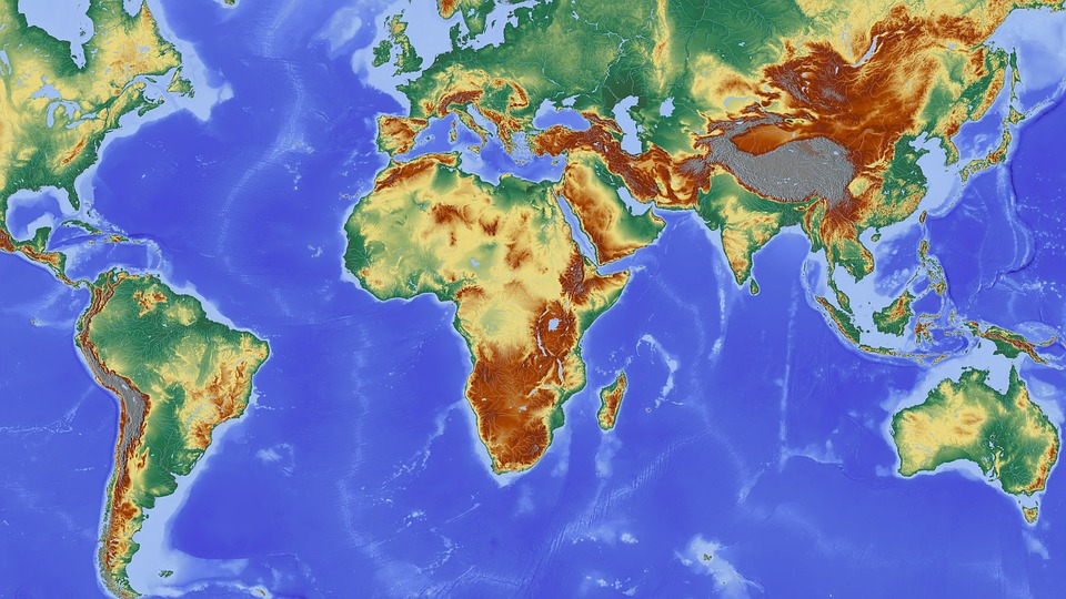 Free photo South America Continent Africa Europe Map Max Pixel