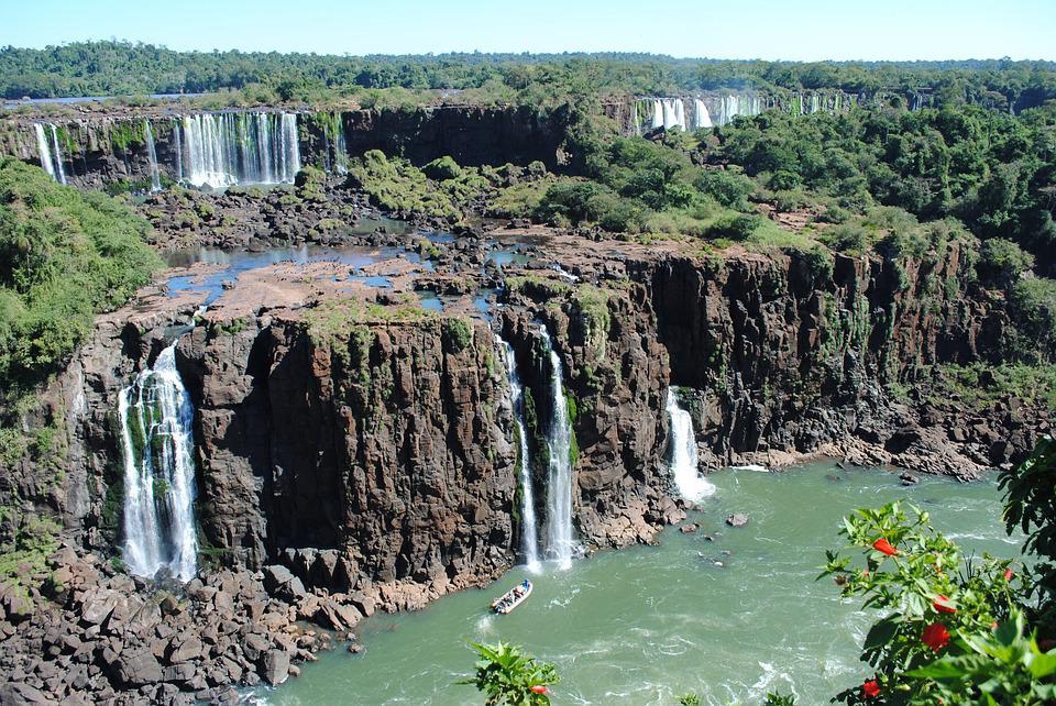 Iguazu Falls, Iguazu, Waterfall, South America, Travel