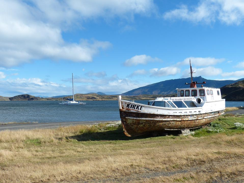 Fishing Boat, Chile, South America, Patagonia, Cold