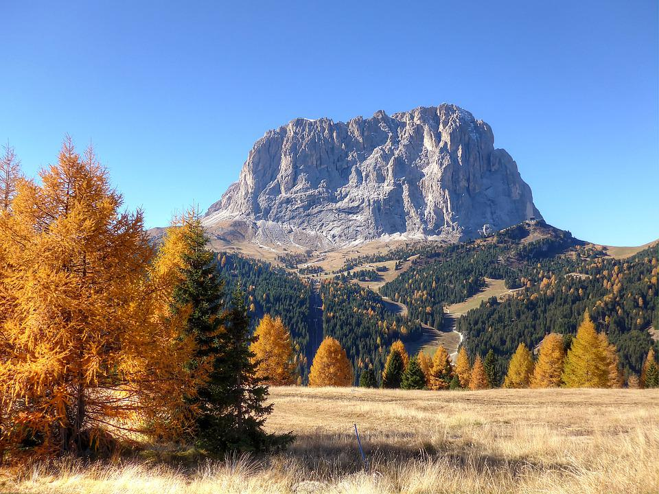 Val Gardena Yoke, Dolomites, Alpine, Italy, South Tyrol