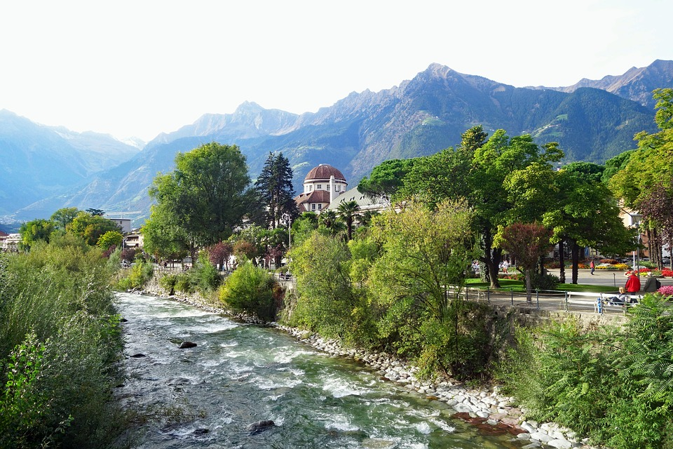 Meran, South Tyrol, Italy, Nature, Mountain, Waters