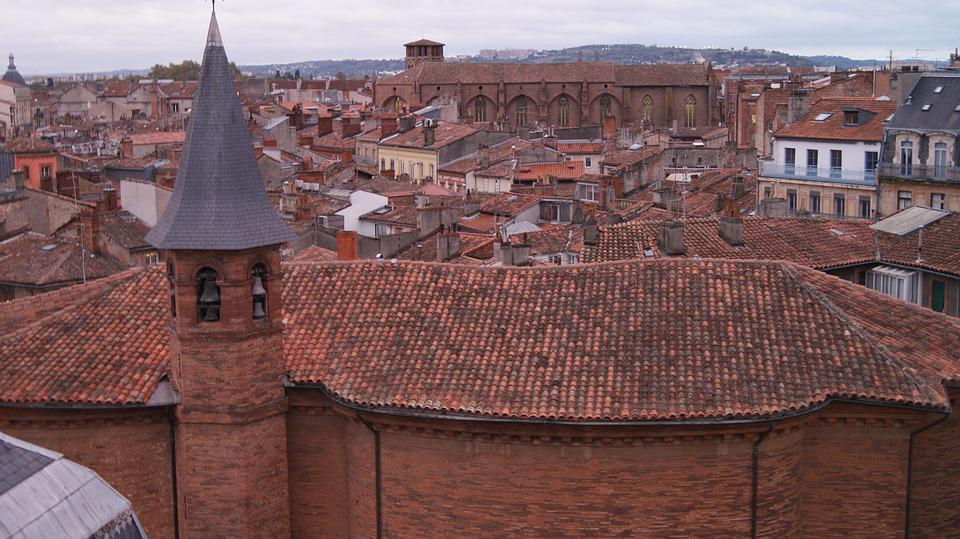 Toulouse, South West France, Roof, Pink City