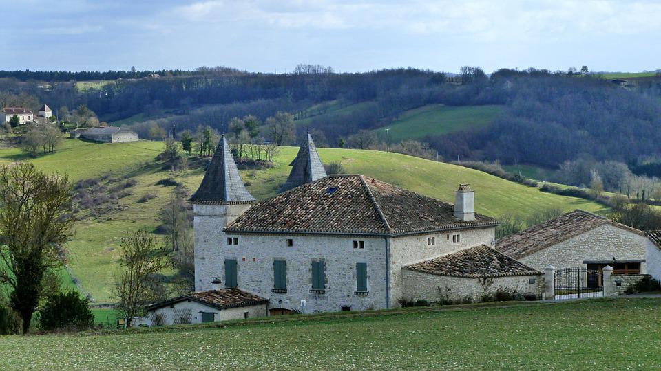 Landscape, Houses, Villas, France, South West, Roofing