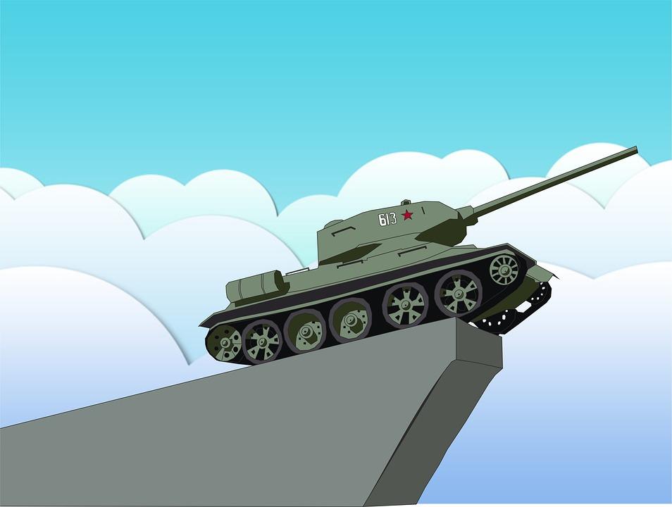 Tank, Monument, Victory, Soviet Army