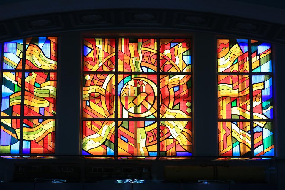 Mosaic, Stained-glass Window, Soviet, Russia, The Ussr